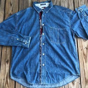 Rare Vintage TOMMY HILFIGER JEANS Denim shirt.
